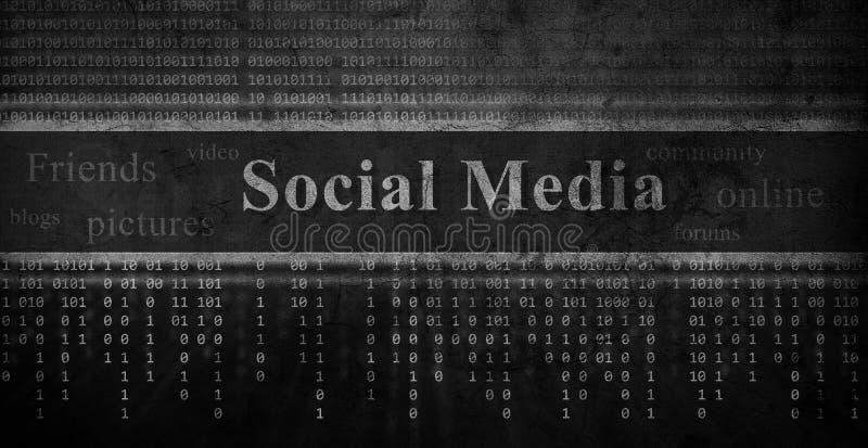 Socialt nätverksbegrepp royaltyfri illustrationer