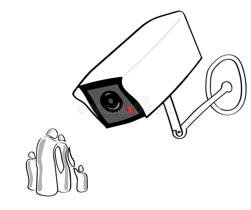 Sociedad bajo vigilancia libre illustration