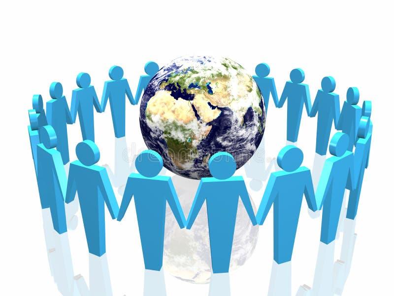 Sociedad del mundo stock de ilustración
