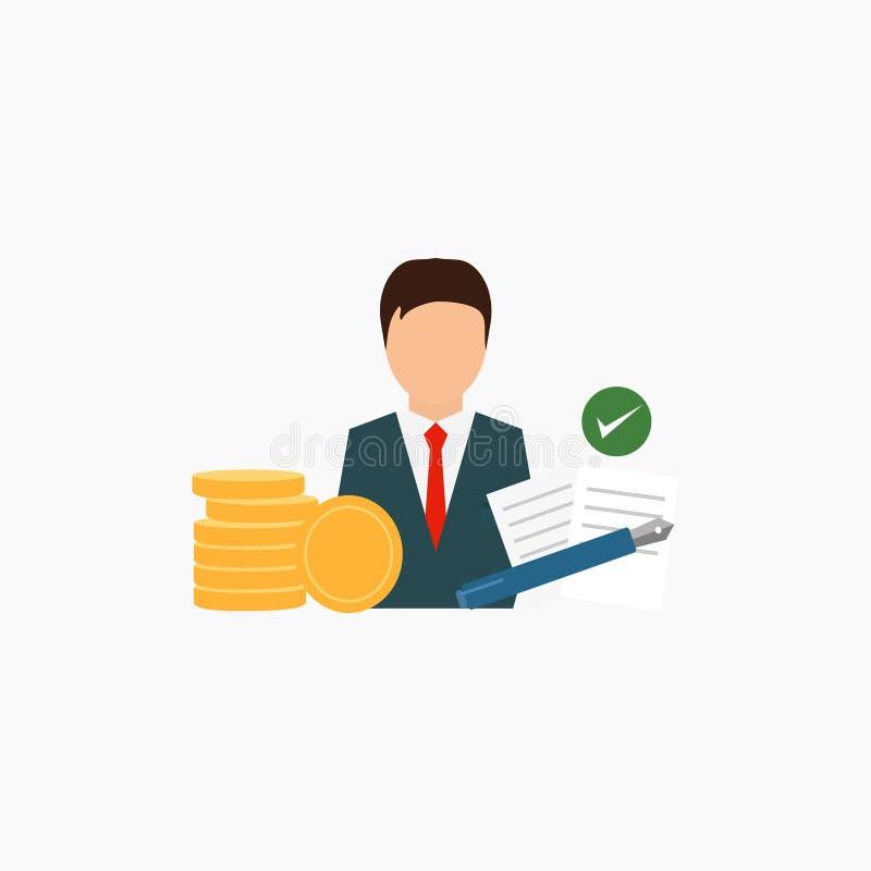 Sociedad del negocio, conclusión del contrato Fondo blanco Ilustración del vector EPS 10 ilustración del vector
