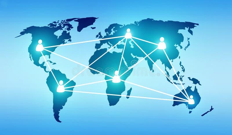 Sociedad global stock de ilustración