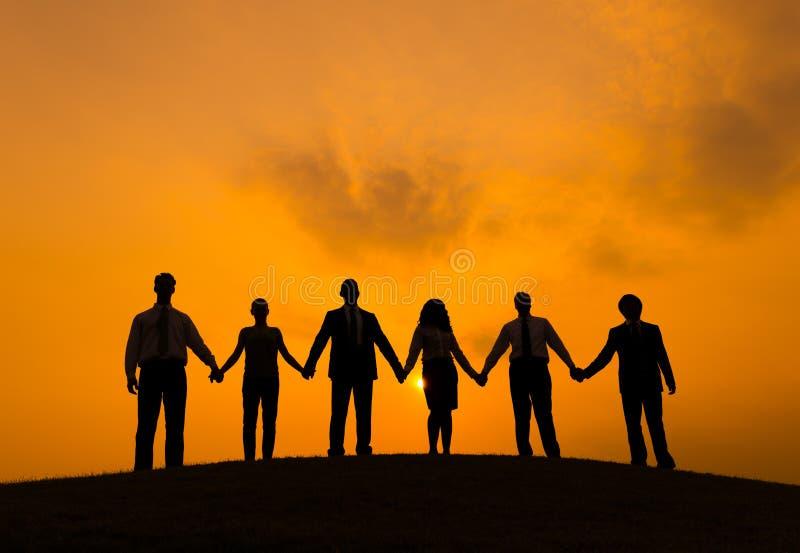 Sociedad Team Teamwork Business People Concept fotografía de archivo
