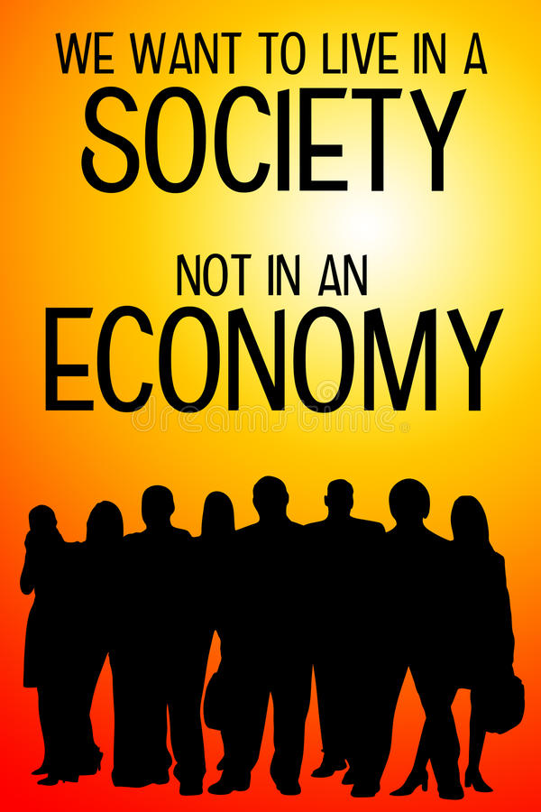 Sociedad y economía ilustración del vector
