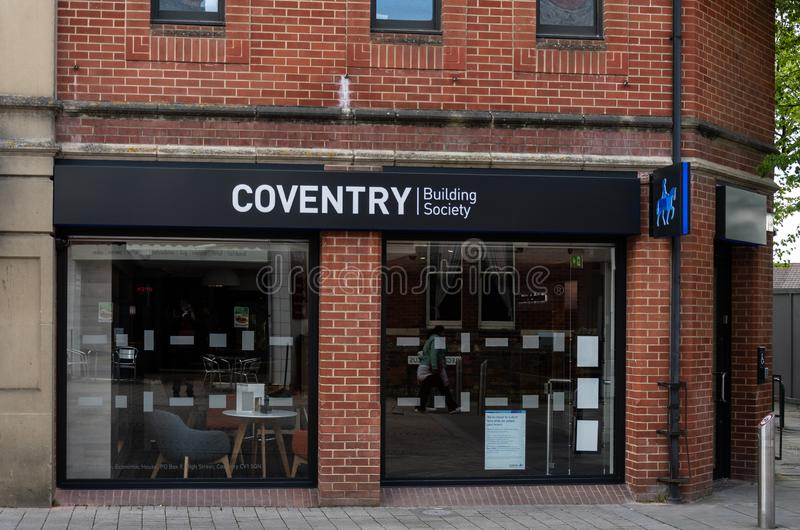 Sociedade de crédito imobiliário Swindon de Coventry imagens de stock