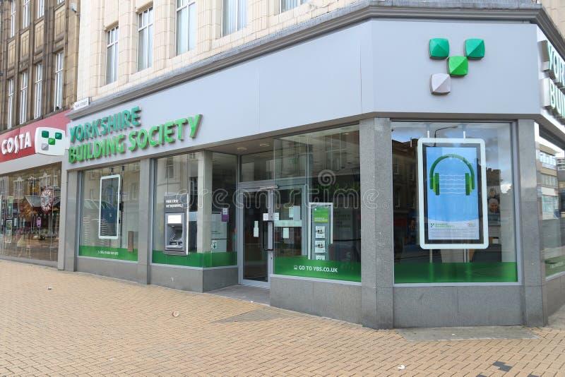 Sociedade de crédito imobiliário de Yorkshire fotografia de stock