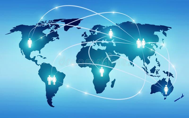 Sociedade global ilustração stock