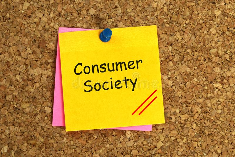 Società dei consumi appiccicosa immagini stock