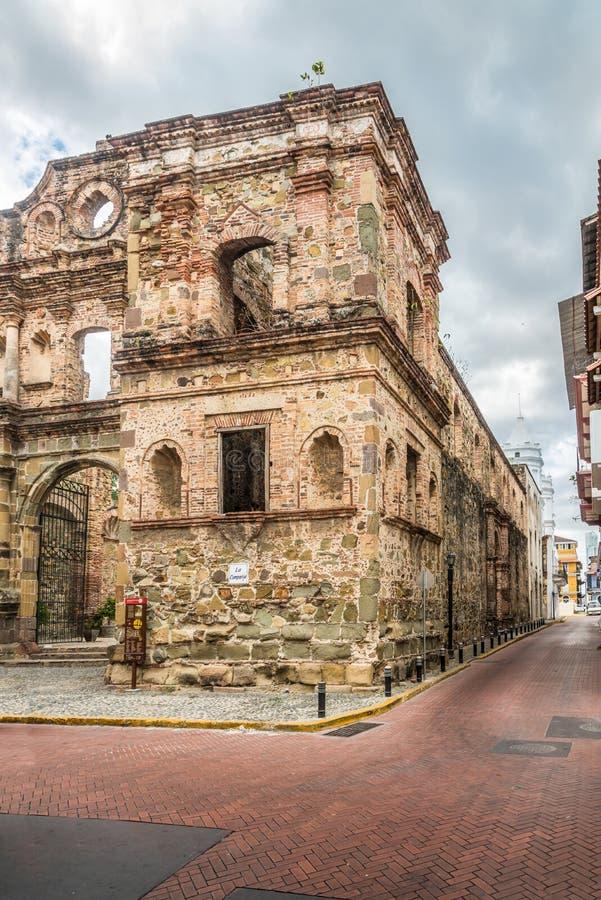 Società di Gesù in vecchio distretto Casco Viejo di Panamá - il Panama immagine stock libera da diritti