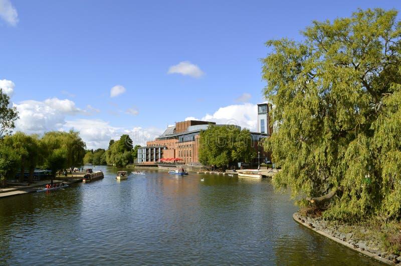 Società di Shakespeare reale sul fiume Avon immagine stock