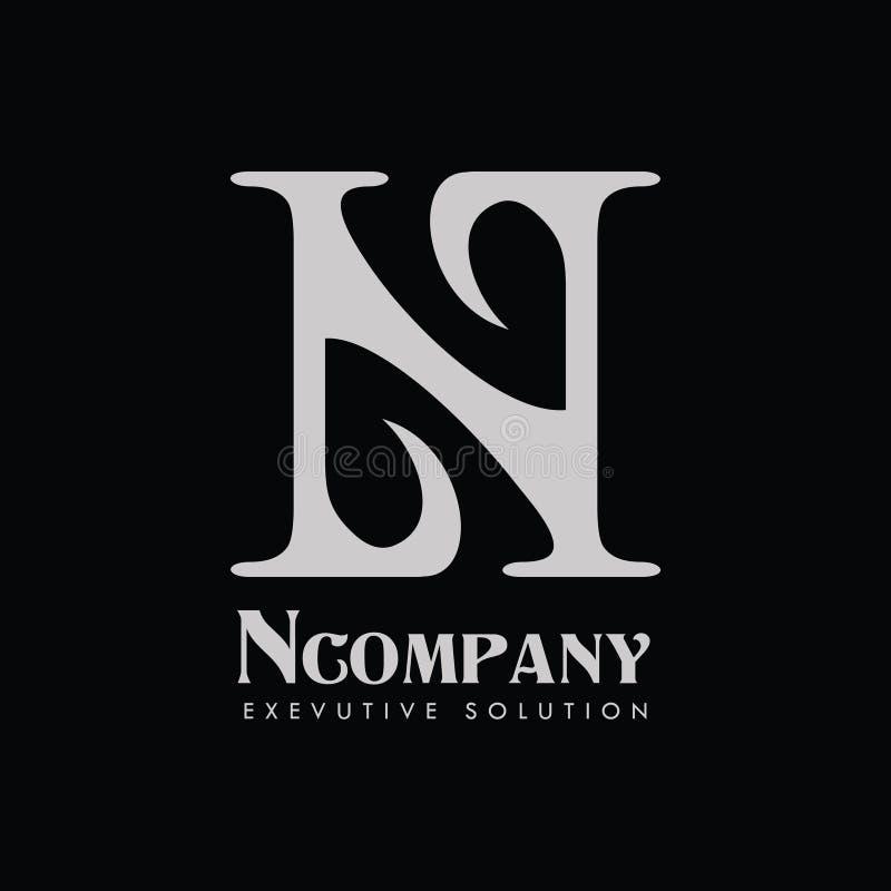 Società Logo Vector della lettera N fotografia stock libera da diritti