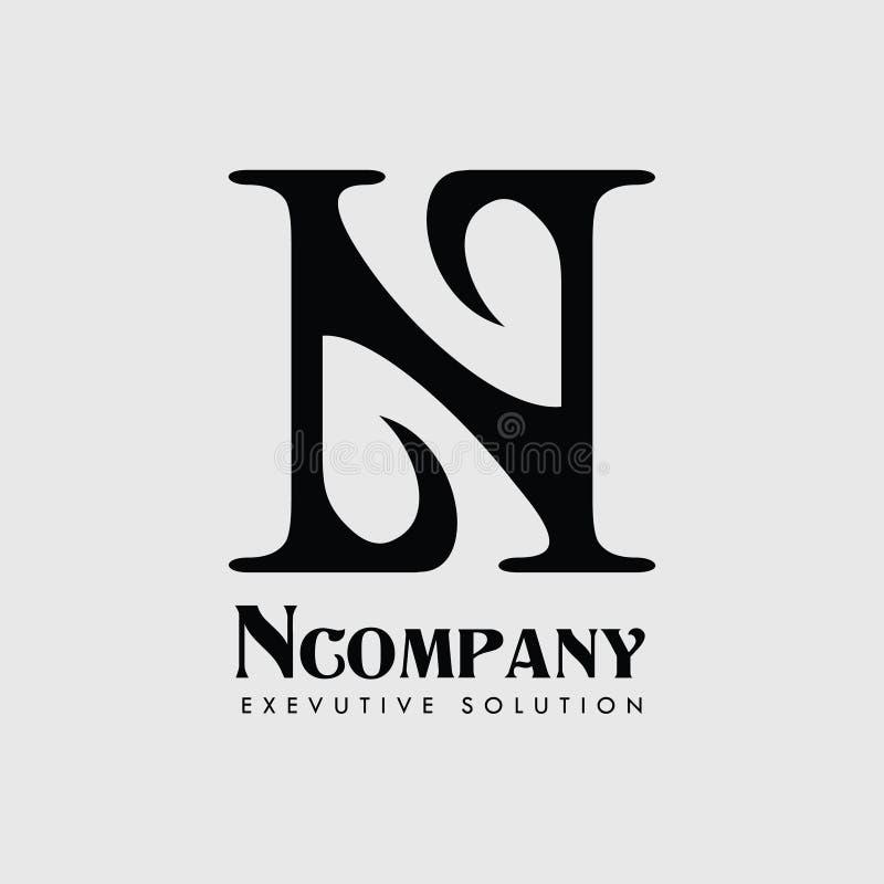 Società Logo Vector della lettera N fotografie stock