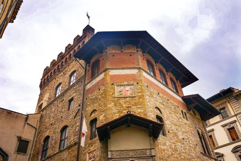 Societa Dante Alighieri Cultural Society Building Florence Italy royalty-vrije stock foto's