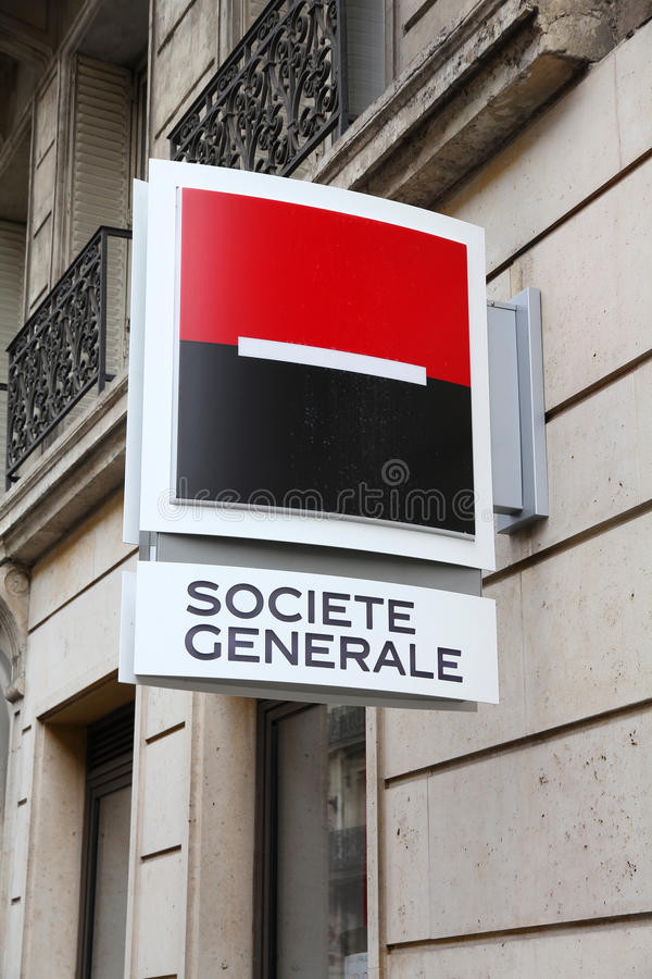 Societe Generale bank royalty free stock image