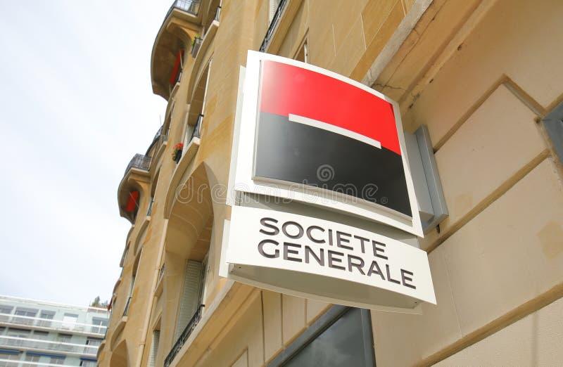 Societe Generale Bank Frankreich lizenzfreie stockfotografie