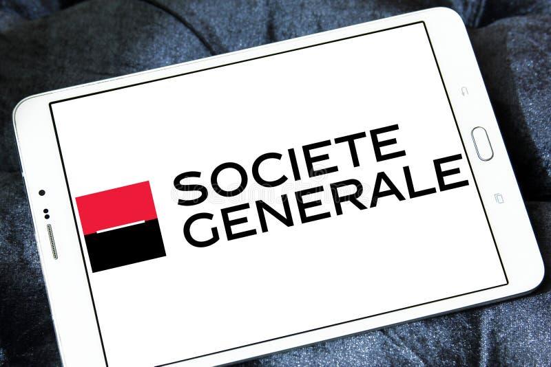 Societe Generale Banklogo lizenzfreies stockbild
