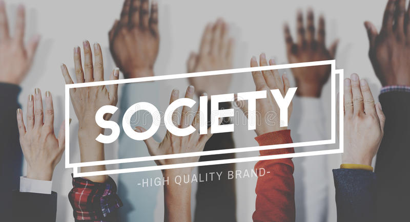 Society Connection Diversity Community Human Hand Concept stock photo