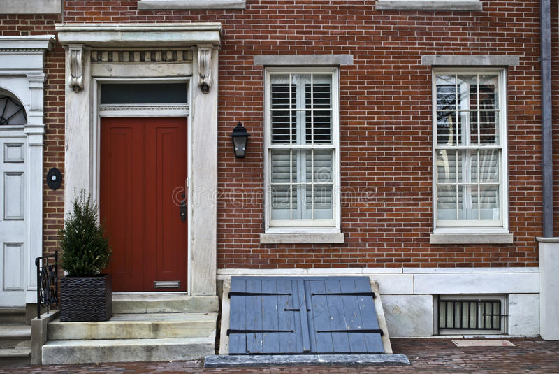 Society Hill Philadelphia. A historic old home in the Society Hill section of Philadelphia royalty free stock photo