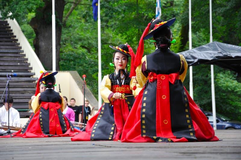 Society for Korean Dance Education + Hata stock photo