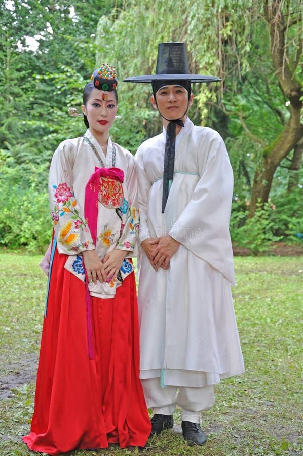 Society for Korean Dance Education + Hata royalty free stock photos