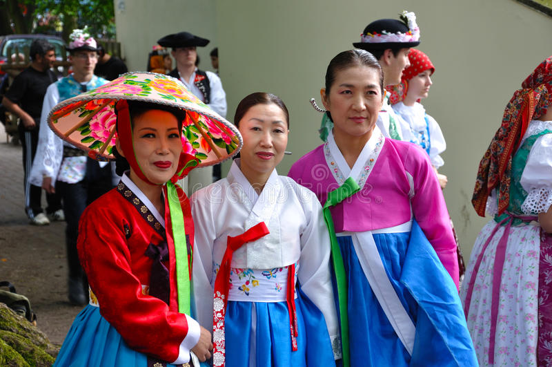 Society for Korean Dance Education + Hata stock images