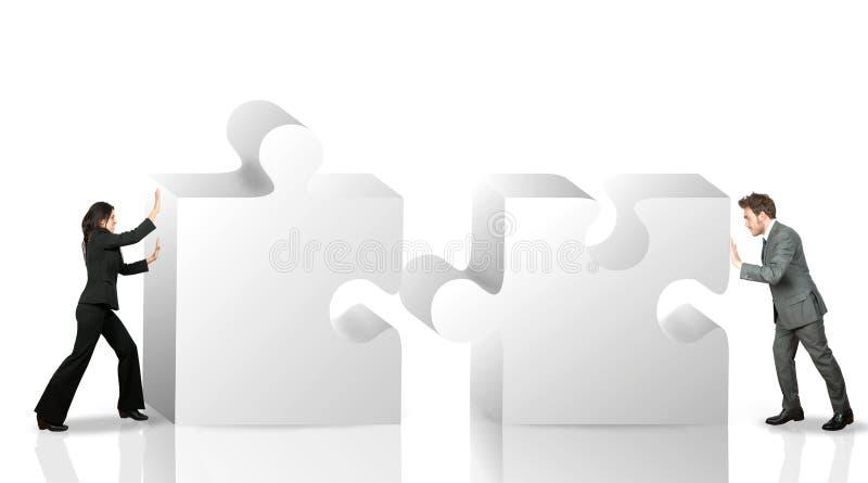 Socio comercial ilustración del vector