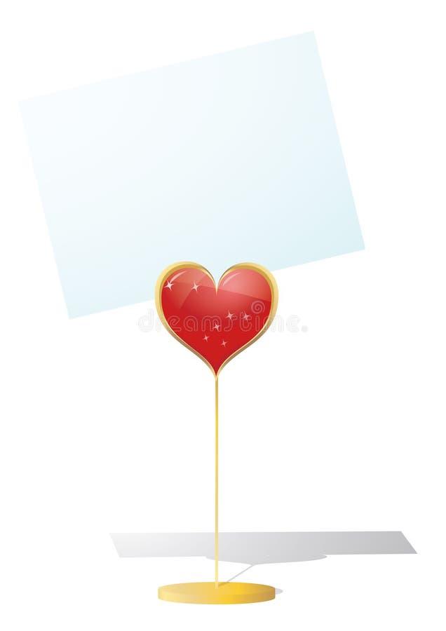 Download Socio Del Biglietto Di S. Valentino Isolato Illustrazione Vettoriale - Illustrazione di scheda, rosso: 7318581