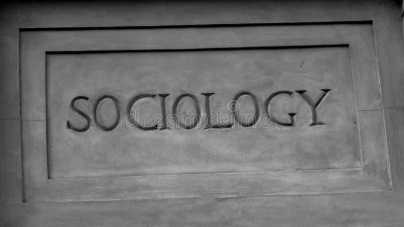 `-Sociologi` i Roman Style Stone Carving fotografering för bildbyråer