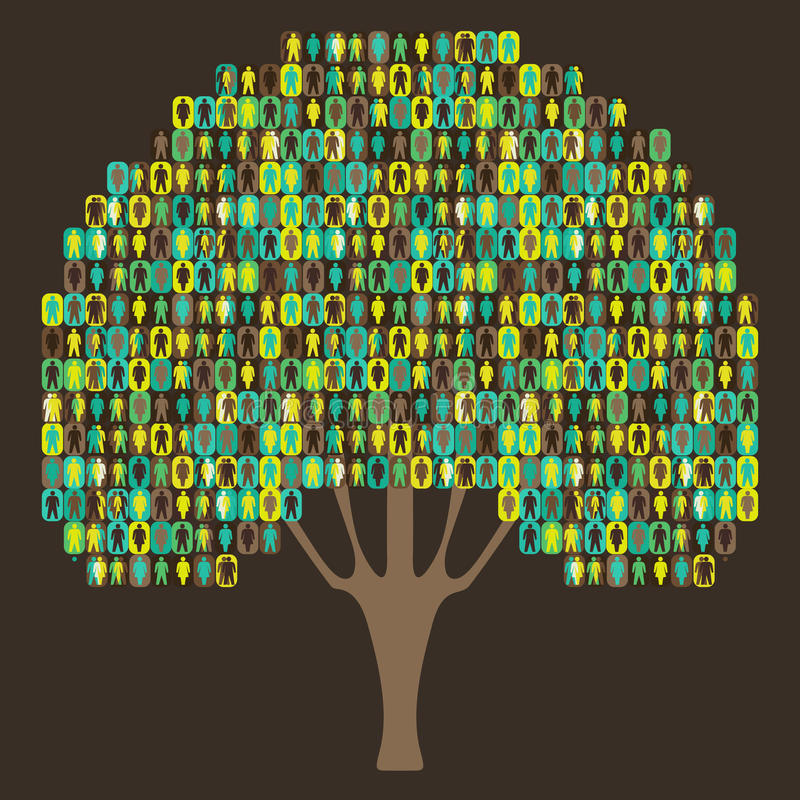 Download Sociology Tree - People Pictogram Stock Vector - Image: 19378742