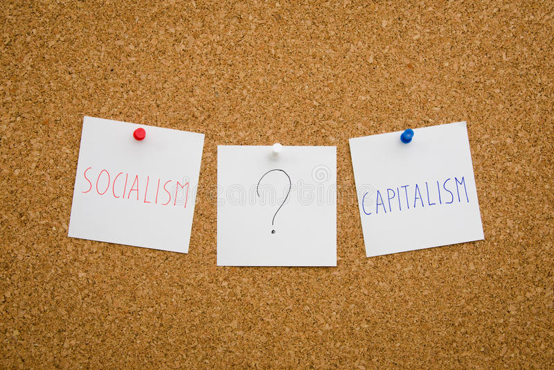 Socjalizm lub kapitalizm obrazy royalty free