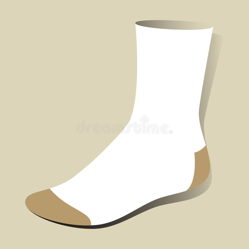 Sock. Template in format royalty free illustration