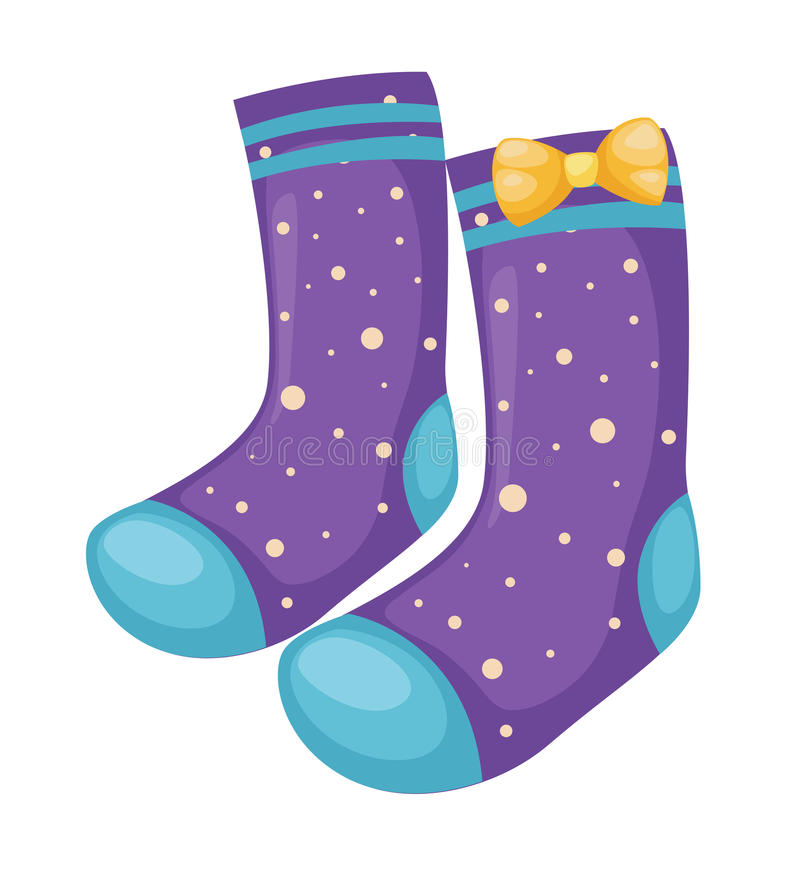 Sock. Isolated on white background vector royalty free illustration