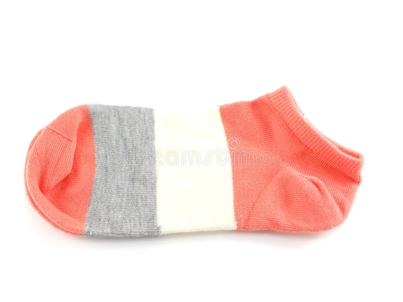 Sock for clothing isolated on white background. Topview of sock for clothing isolated on white background royalty free stock photos