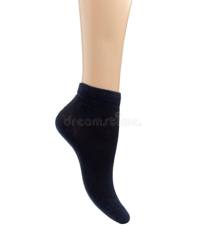 Sock over white stock image