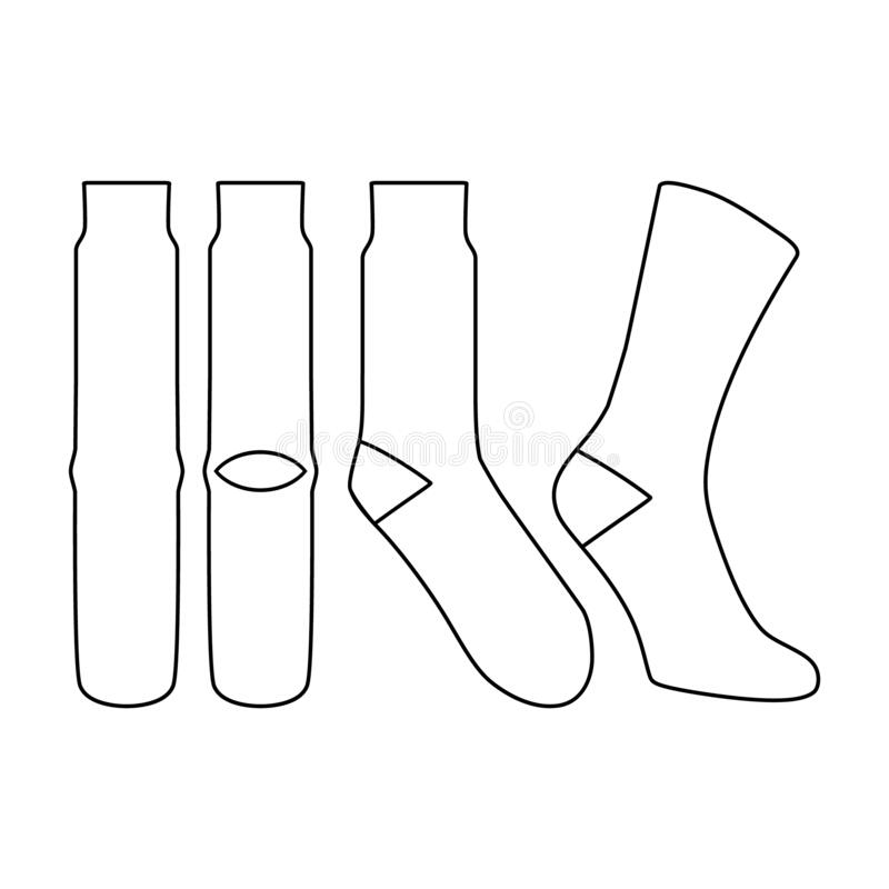 Free Sock Vector Illustration Flat Outline Template Royalty Free Stock Image - 203484106