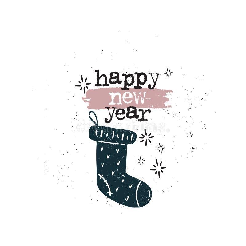 Socka för lyckligt nytt år vektor illustrationer