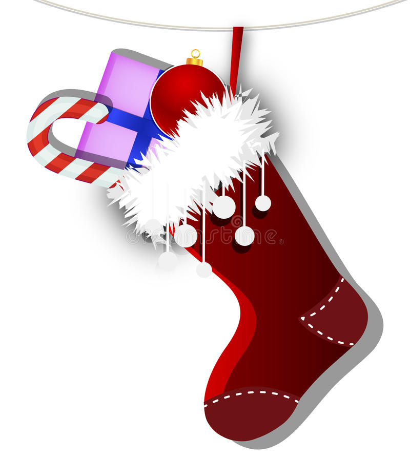 Socka med gåvor stock illustrationer