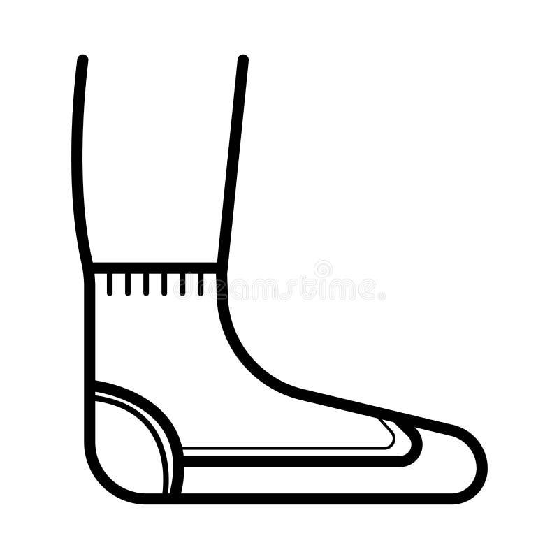 Sockavektorsymbol royaltyfri illustrationer