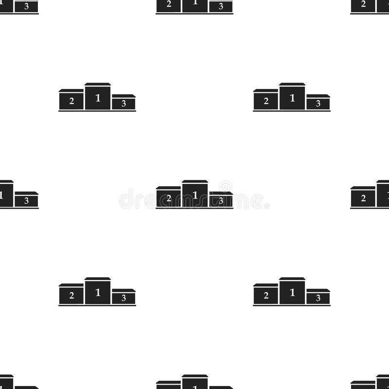 Sockelikone in der schwarzen Art lokalisiert auf weißem Hintergrund Sport- und Eignungsmustervorrat-Vektorillustration lizenzfreie abbildung