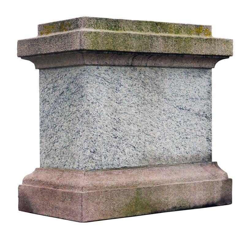 Sockeln för en staty eller en kolonn royaltyfria foton