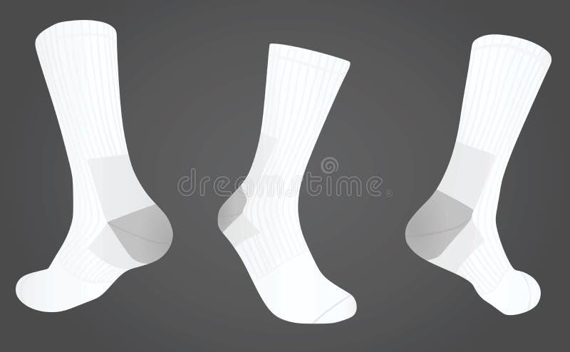Socken vorder und hintere Ansicht vektor abbildung