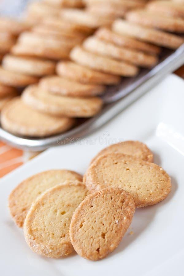socker för cakesbakelseplatta royaltyfri bild