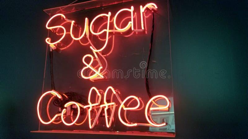 Socker och kaffe royaltyfria foton