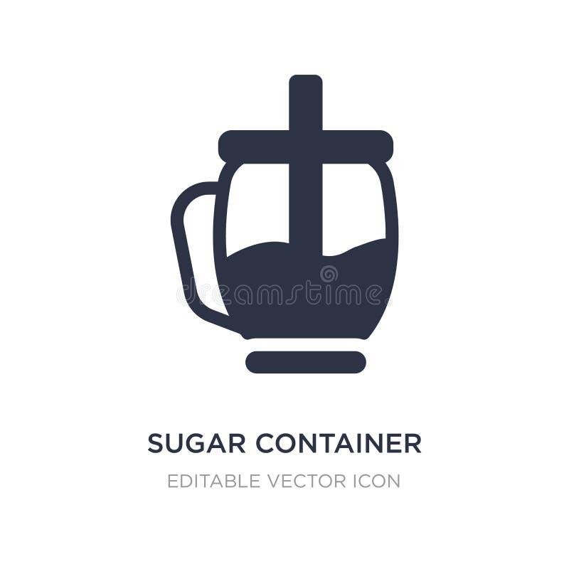 sockerbehållaresymbol på vit bakgrund Enkel beståndsdelillustration från matbegrepp stock illustrationer