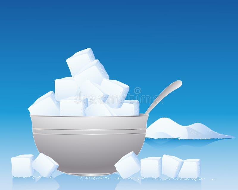 Sockerbunke stock illustrationer