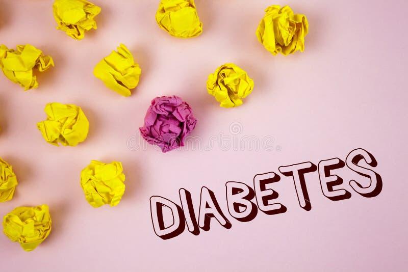 Sockersjuka för textteckenvisning Medicinskt villkor för begreppsmässigt foto som diagnostiseras med ökande på hög nivå socker so arkivbild