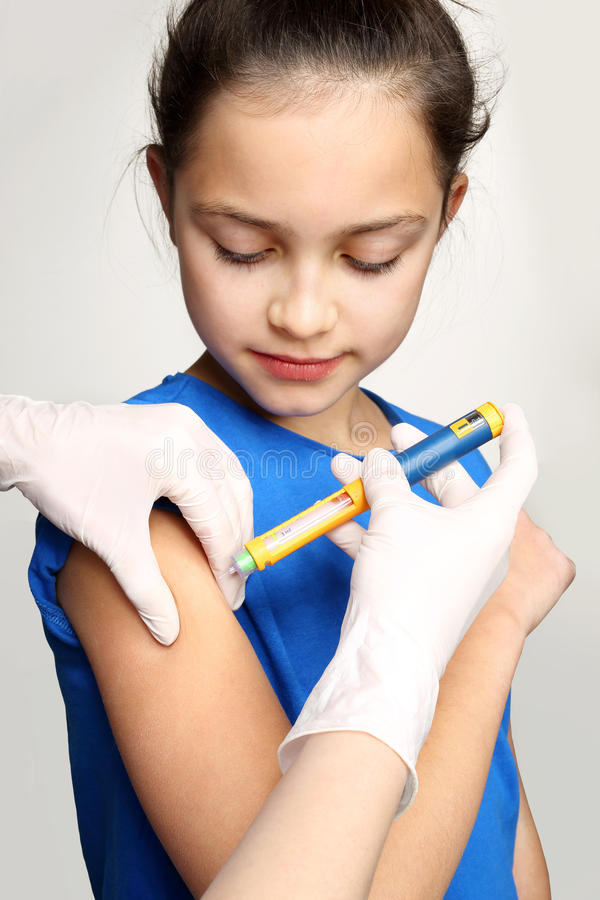 Sockersjuka i barn royaltyfria bilder