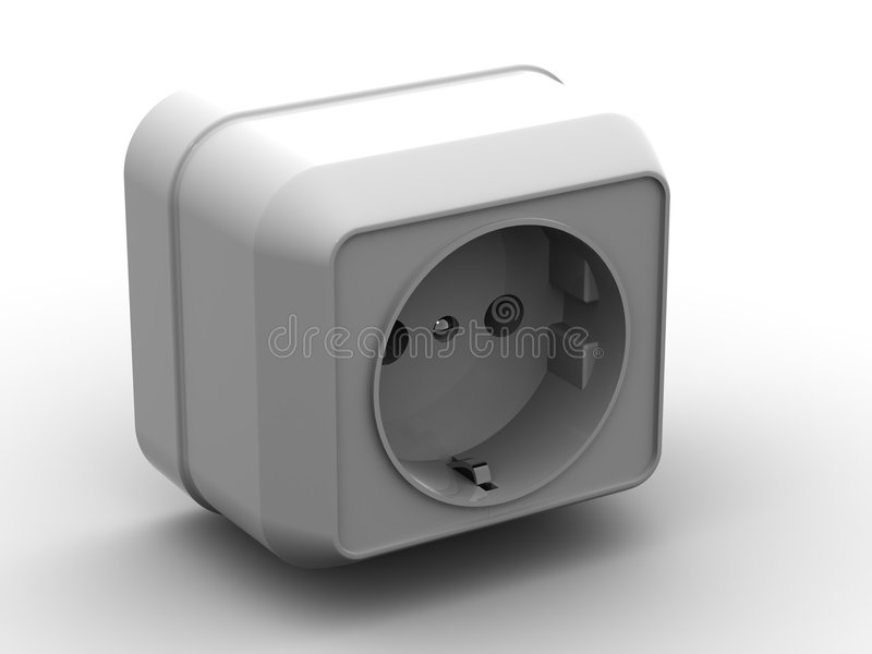 Socket stock illustration