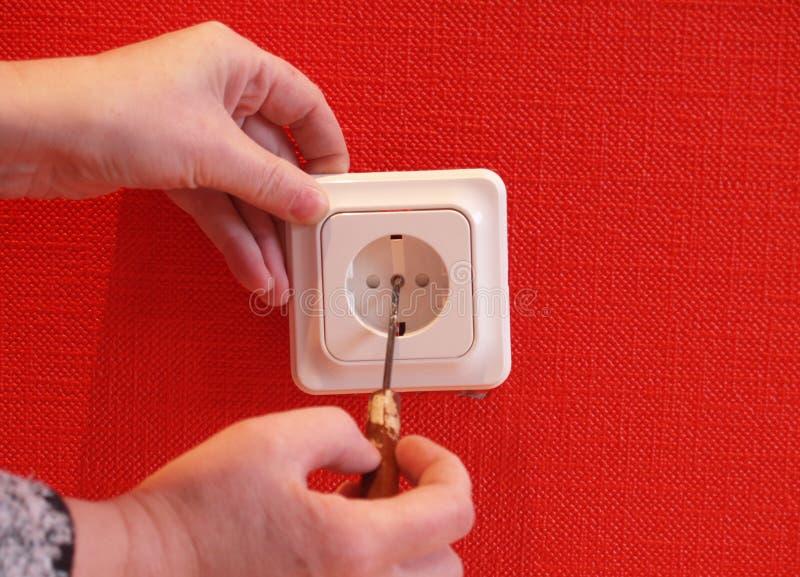 Zócalo eléctrico imagenes de archivo