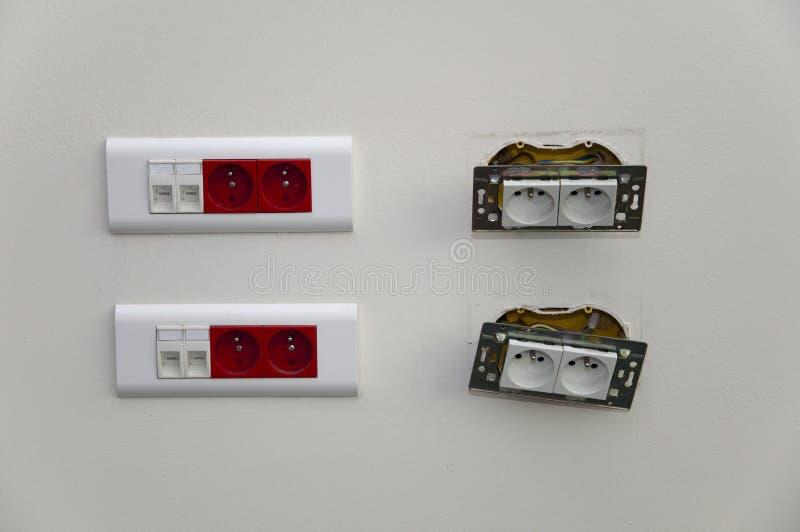 Socket eléctrico desensamblado imágenes de archivo libres de regalías