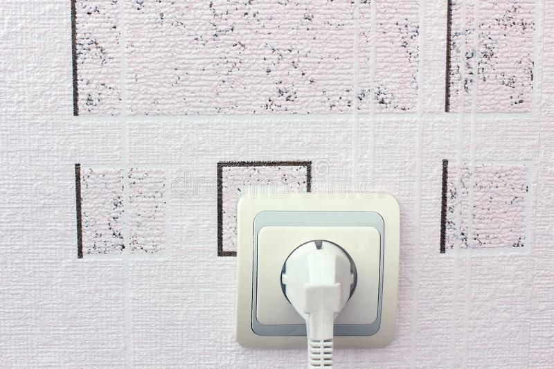 Socket en la pared Enchufe imágenes de archivo libres de regalías